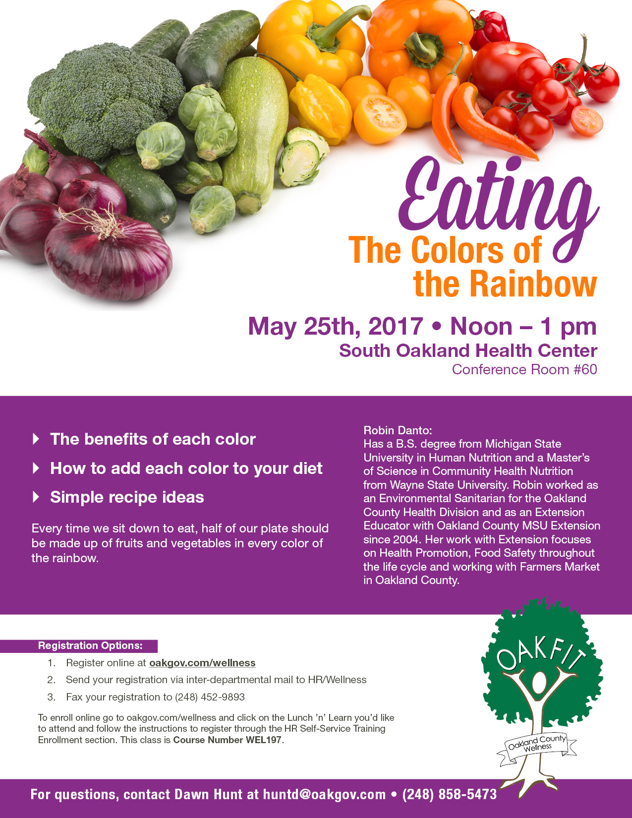 OakFit Lunch and Learn Flyer