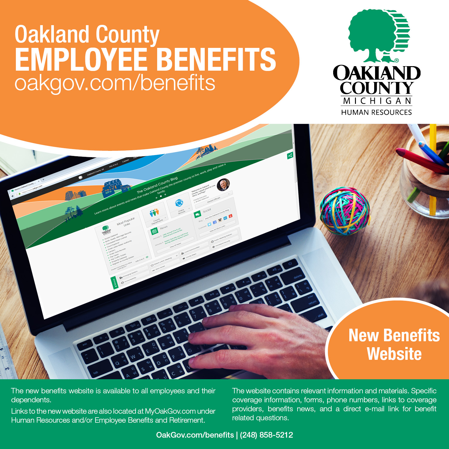 Oakland County Benefits Flyer