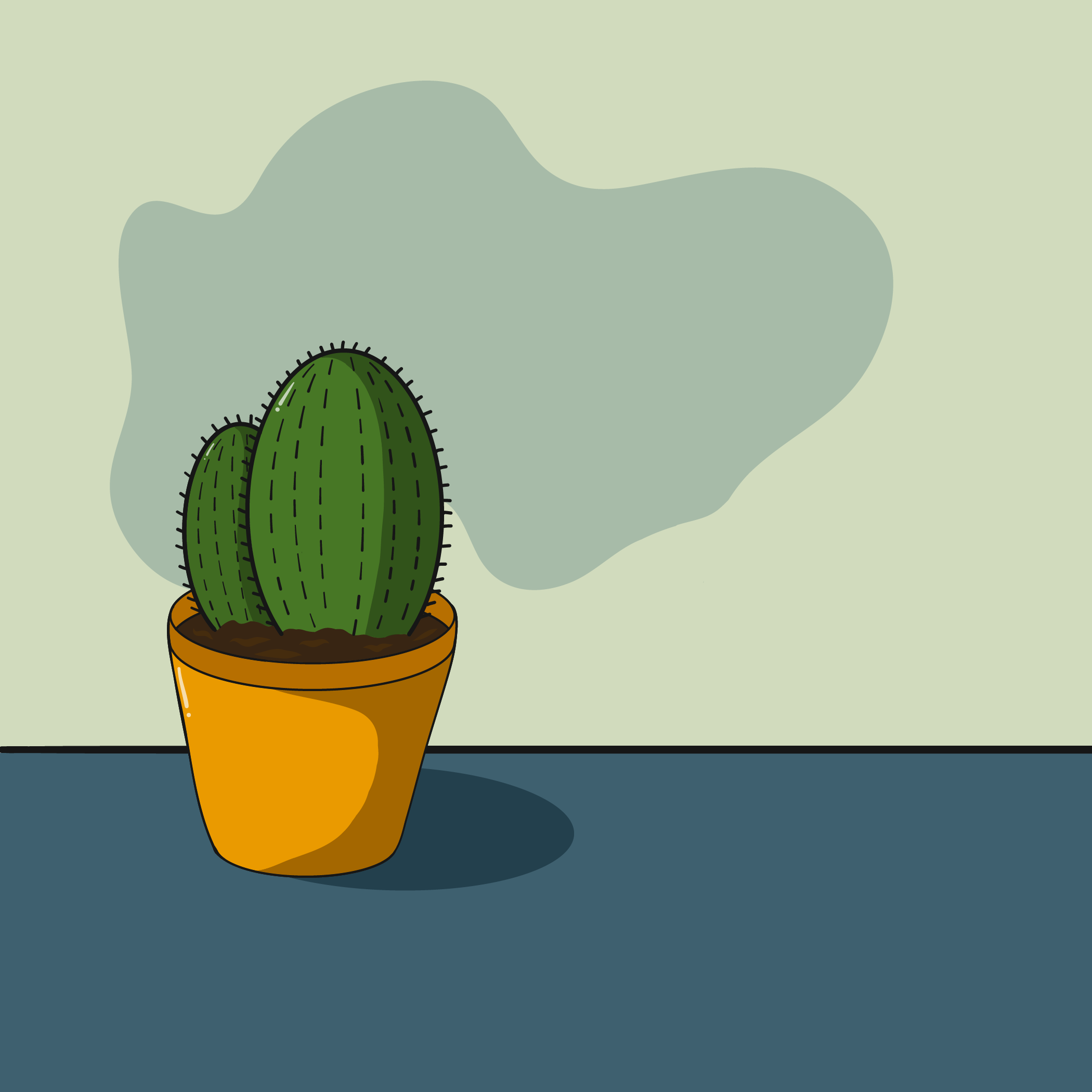 Potted Plants Series Illustration